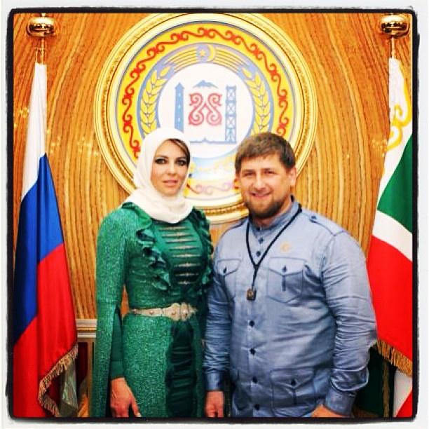 Элизабет Херли и Рамзан Кадыров