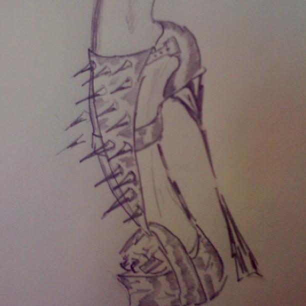 Скетч туфель из коллекции Виктории Бони