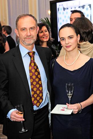 Посол России в Люксембурге Марк Энтин с супругой