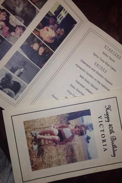 Специальное меню для праздничного ужина в честь Виктории