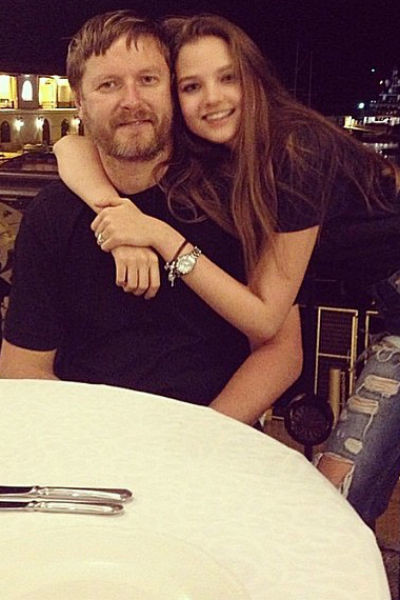 Евгений Кафельников с дочерью Алесей