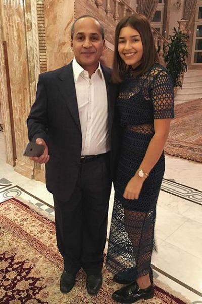 Диана Манасир с отцом