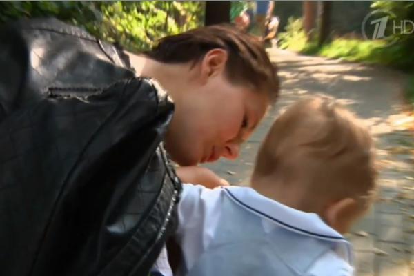 Мария Кожевникова с сыном Иваном