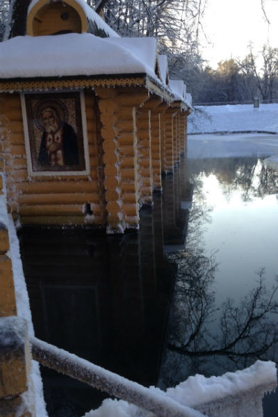 В целебных источниках вода не замерзает