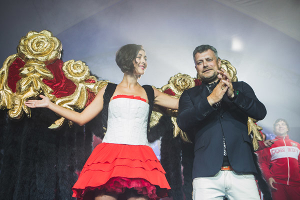 Марина Кравец и дизайнер Илья Шиян