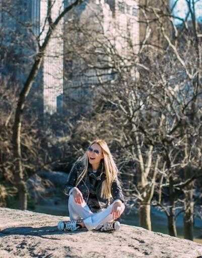 В Центральном парке Элина насладилась тишиной и спокойствием