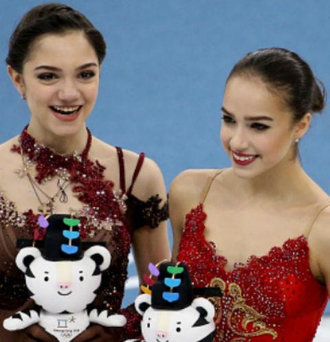 Евгения Медведева и Алина Загитова