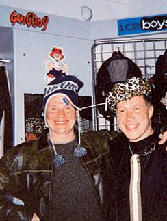 Влад Галкин и Алексей Кравченко. Анапа, 2001 год