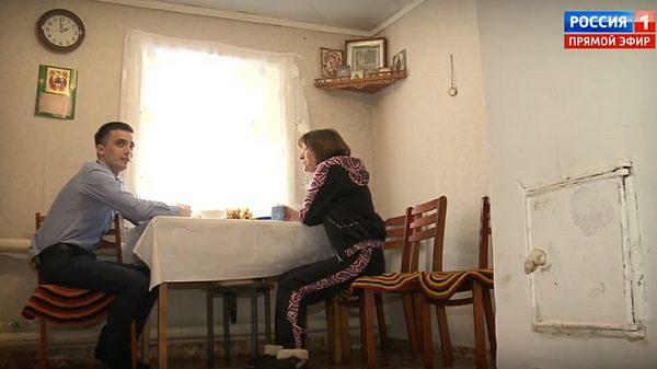 Сергей Семенов с матерью