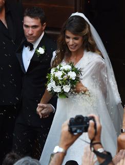 Элизабетта Каналис и Брайан Перри в день свадьбы