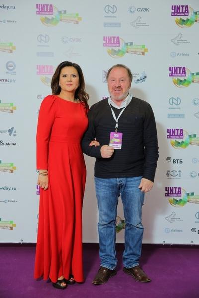 Владимир Стеклов с директором кинофестиваля