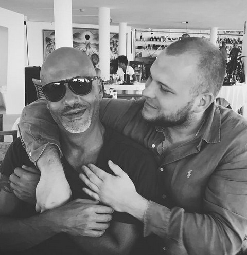 Федор Бондарчук с сыном Сергеем на отдыхе в Испании