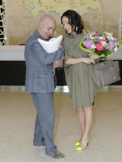 Михаил Грушевский с женой Евгенией и новорожденным сыном Мишей