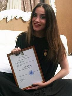 Виктория Дайнеко с наградой