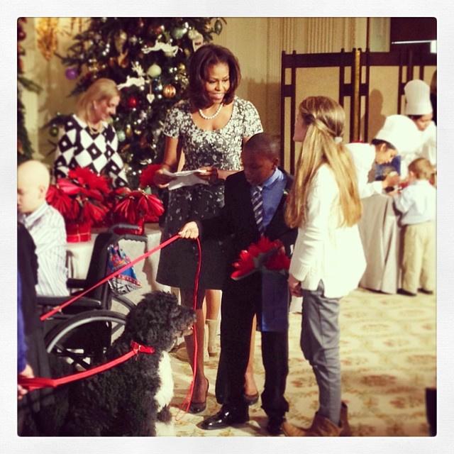 Мишель Обаму сопровождала Санни