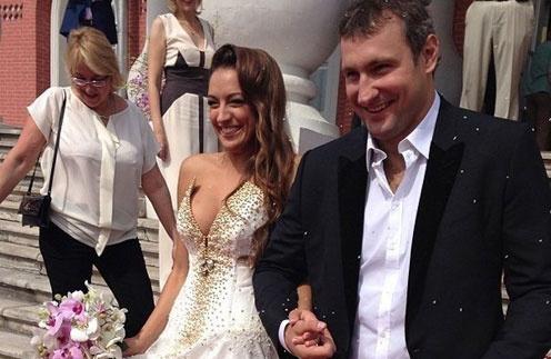 Первый свадебный кадр Евгении Канаевой и  Игоря Мусатова