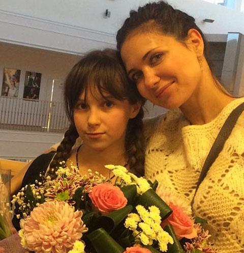 Екатерина Климова с дочкой Лизой