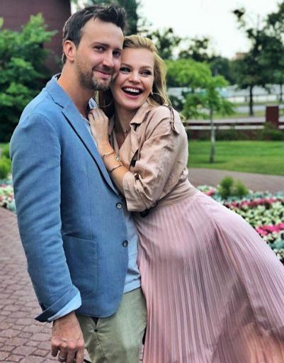 Елена Кулецкая с мужем