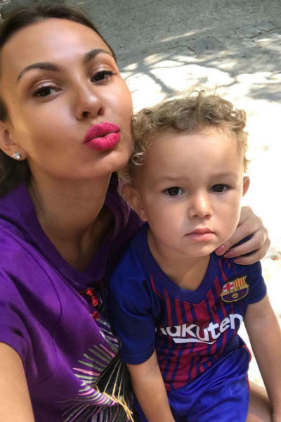 Инна Жиркова с младшим сыном