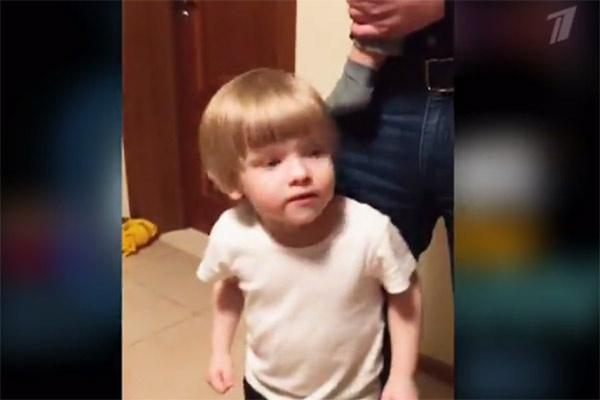 В программе показали домашнее видео Юлии Михальчик с ее сыном Сашей в главной роли