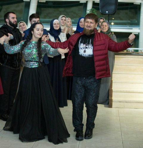 Раяна Асланбекова и Рамзан Кадыров