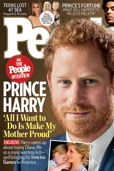 Принц Гарри на обложке журнала People