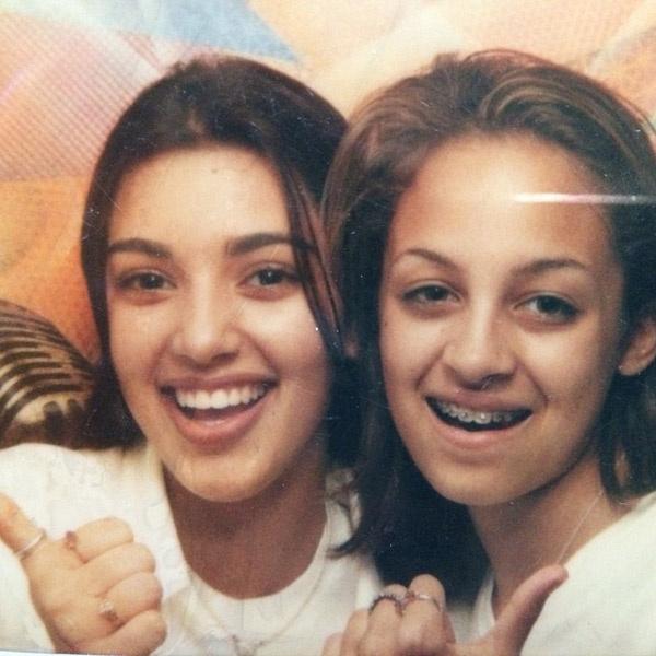 Ким Кардашьян и Николь Ричи в 13-летнем возрасте