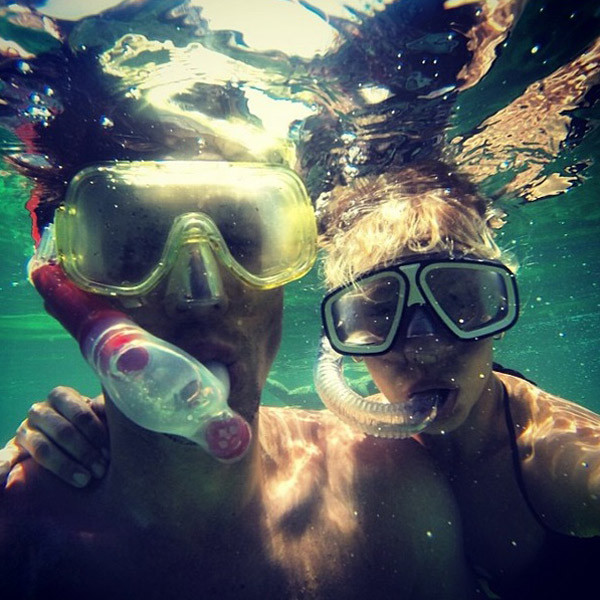На острове Свободы фигуристы погрузились под воду