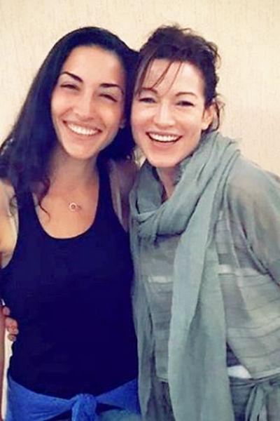 Алена Хмельницкая и ее дочь Саша