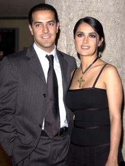 Сальма Хайек с братом