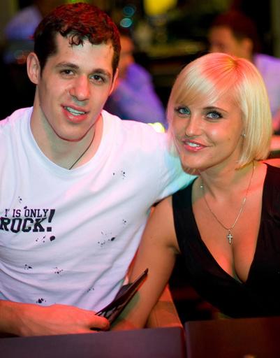 Оксана Кондакова и Евгений Малкин.