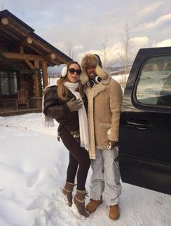 Мэрайя с мужем в Аспене под Рождество