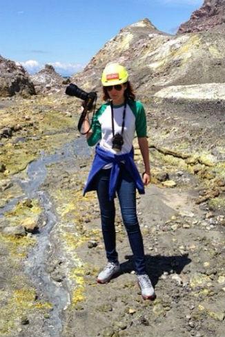 Таня гуляет по действующему вулкану...