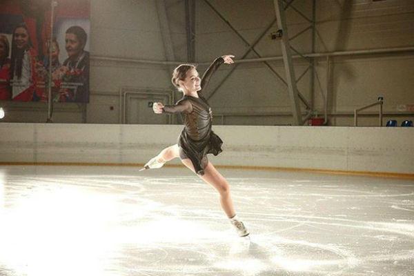 Олимпийская чемпионка продолжает усердно тренироваться