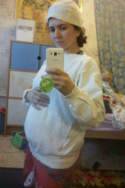 Галина ждет третьего ребенка