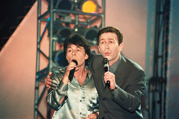С Олегом Газмановым в шоу «Кристалл Миллениум», 2000 год
