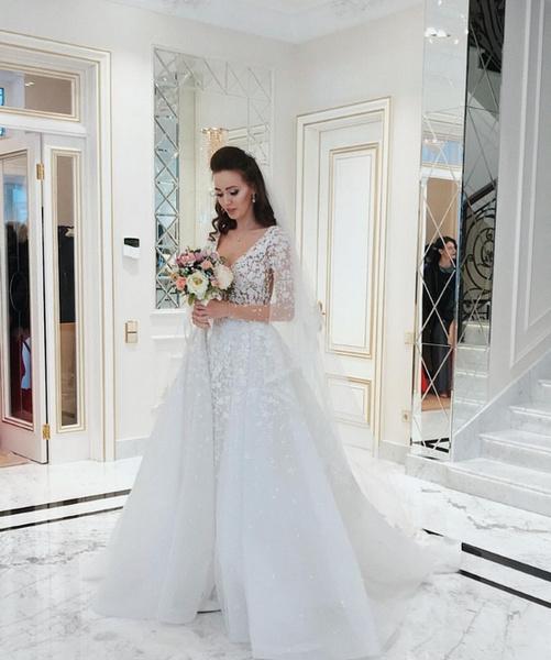 Анастасия Костенко в подвенечном платье