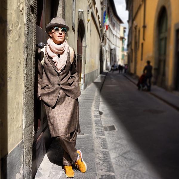 Ксения демонстрирует модный лук во Флоренции