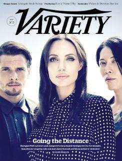 """Анджелина Джоли с актерами фильма """"Несломленный"""" на обложке журнала Variety"""