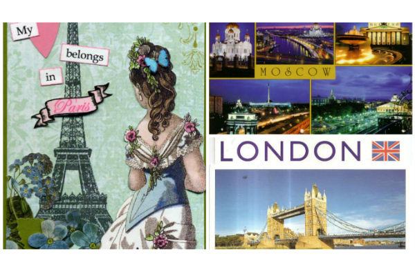 У одной моей знакомой уже две тысячи открыток из разных стран мира