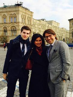 Ведущие Первого канала Дмитрий Борисов, Анна Павлова и Андрей Малахов