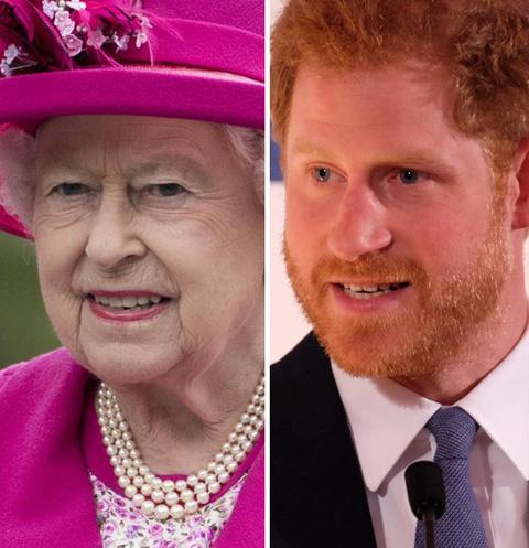 Елизавета II, принц Гарри