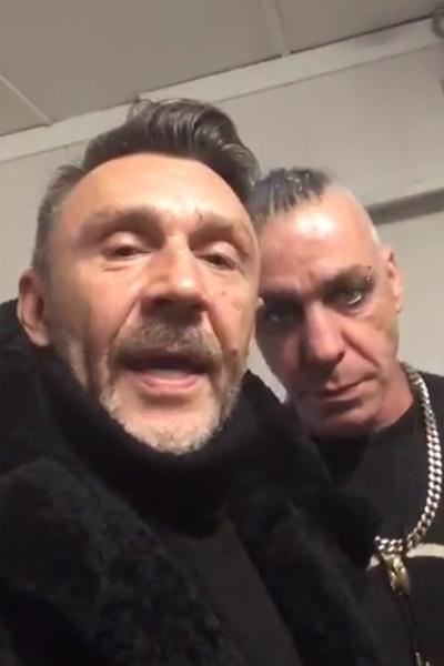 Сергей Шнуров и Тиль Линдеманн