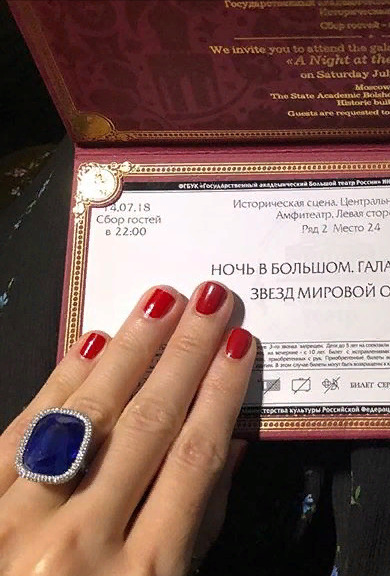 Кольцо Ксении оценили в более, чем 50 млн. рублей