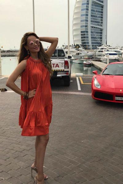 Анна наслаждается пребыванием в Дубае