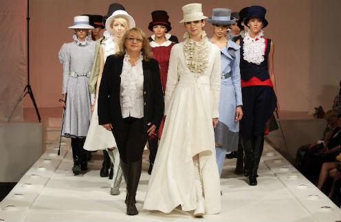 В Лаборатории  моды Вячеслава  Зайцева  дипломный показ  «второгодницы»  Забегиной стал  событием