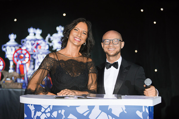 Татьяна Воронина на World Dog Show 2016 c Дмитрием Хрусталевым