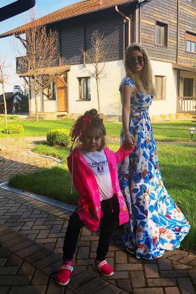 Таня Терешина с дочкой Айрис