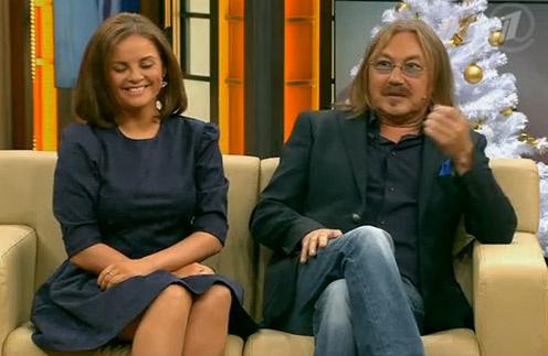 Юлия Проскурякова и Игорь Николаев в студии программы