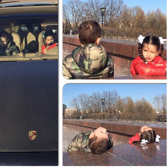 Во время прогулки Маруся и сын Курбана были неразлучны